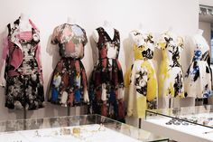 Colette Women, Paris « The Sartorialist; the yellow and black,ooh lala, or that last one with the blue floral? I'm in love.
