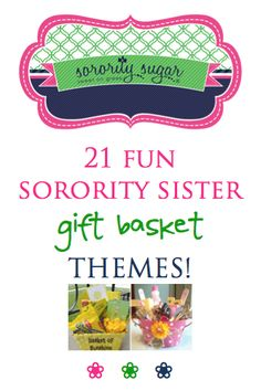 🎁 I LOVE creating and giving gift baskets! Have fun, theme your items and put together a one-of-a-kind sister gift. Save money too by shopping smart and. Best Gift Baskets, Themed Gift Baskets, Sorority Sugar, Sorority Sisters, Sorority Canvas, Sorority Paddles, Sorority Recruitment, Big Little Basket, Little Sister Gifts