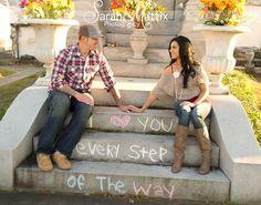 www.facebook.com/sarahmattixphotographer    Couple, Love, steps , bride , groom , plaid , heart ,