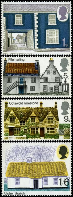 Royal Mail 1970 - British Rural Architecture http://rmspecialstamps.com/##stamps