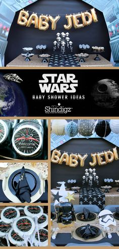 Celebrate the coming of your little Jedi with a Star Wars themed baby shower. Al - Star Wars Family - Ideas of Star Wars Family - Celebrate the coming of your little Jedi with a Star Wars themed baby shower. Alert all commands! LAURA'S little PARTY! Star Wars Baby, Shower Party, Baby Shower Parties, Baby Showers, Baby Shower Games, Baby Boy Shower, Star Wars Kindergarten, Decoracion Star Wars, Tema Star Wars