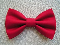 RED-Hair bow, Hair bows for girls, cute hair bows out of cotton fabric