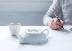 A 'Halved' Teapot That Can Only Brew A Single Serving Of Tea