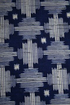 Vintage Japanese Wool Mix Modernist Print Kimono Fabric