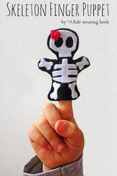Marioneta de dedo en fieltro.