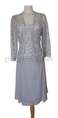 Long Sleeves Lace Jacket Plus Sizes Mob modest Mother of Bride Dress Knee Length | eBay
