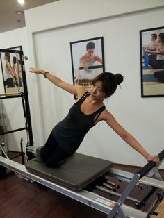 Reformer pilates exercise