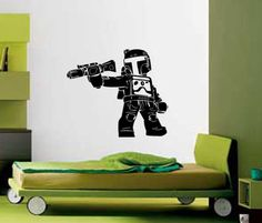 Wall Decor Art Vinyl Removable Mural Decal Sticker Lego Star Wars Boba Fett