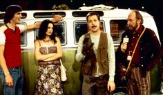 70's show Ashton,Kutcher & his SERIOUS GIRLFRIEND NOW,in the CAST THEN AS JACKIE~> *MILA KUNIS; *one of The Third Rock cast *FRENCH STEWART My FAVORITE.