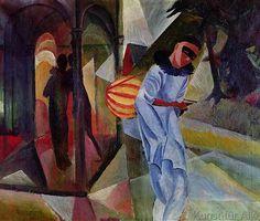 August Macke - Pierrot, 1913