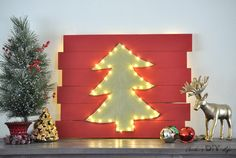 Amazing I Am In Love With This DIY LED Christmas Tree Wall Decor!! This Is Totally  Genius!!