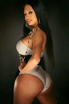 Beauty stacked ebony bikini