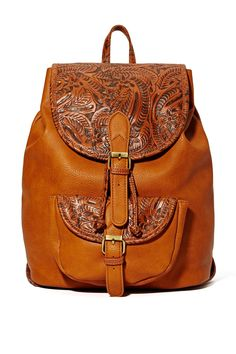 Rio Grande Backpack // faux leather backpack // tooled leather // boho // travel // bohemian style