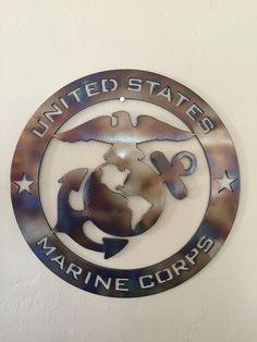 US Marine Corps USMC Metal Wall Art Decor