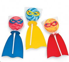 SUPERHERO PARTY~1 x superhero  swirl pop