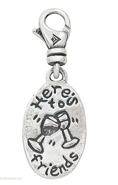 Charms on sale. $19.00 Sterling silver #jewelry sale #wine #friends www.mysilpada.com/ann.burke