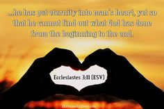 Eternity in the Heart - Eccl. 3:11 - Verse of the Day