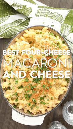Perfect for Thanksgiving or a weeknight dinner this four-cheese mac and cheese is delicious and super easy to make. This easy macaroni casserole is customizable with our four different flavor variations, too. #macandcheese #macaroniandcheesecasserole #bestmacandcheese #thanksgiving #sidedish #bhg Hallowen Food, Halloween Food For Party, Halloween House, Halloween Diy, Macaroni And Cheese Casserole, Hamburger Casserole, Best Mac And Cheese, Mac Cheese, Vegetarian Recipes