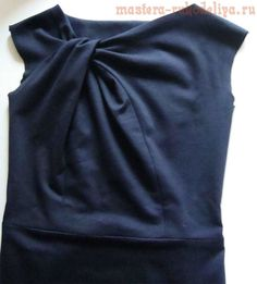 Master class on sewing: Dress with drapery