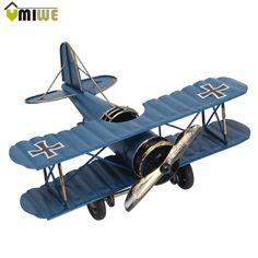 Retro Biplane Model Metal Aircraft 2 Colors FREE SHIPPING worldwide 🌎 Money back guarantee ✅ 39% DISCOUNT!!!