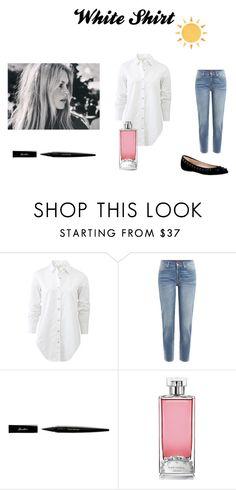"""""""Classic white shirt"""" by billie-ann-richardson on Polyvore featuring mode, Bardot, rag & bone, 7 For All Mankind, Guerlain et WardrobeStaples"""