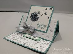 The Craft Spa - Stampin' Up! UK independent demonstrator : Balloon Celebration Dandelions Simple Easel Card