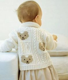 Cable-and-Teddy-Bear-Jacket-Free-Knitting-Pattern