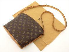 Louis Vuitton Authentic Monogram Drouot Cross body Shoulder Bag Auth LV #LouisVuitton #ShoulderBag
