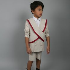 Shan and Toad - Luxury Kidswear Shop - Carbon Soldier Natural Malborough Blazer Linen Blazer, Toad, Prince Charming, Luxury, Natural, Jackets, Shopping, Color, Fashion