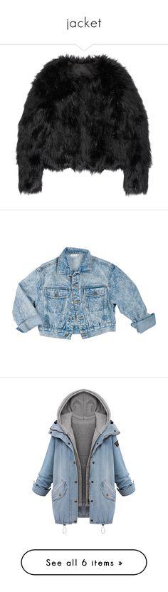 """jacket"" by lucille-msk on Polyvore featuring outerwear, jackets, tops, coats, fur, altuzarra, faux fur jackets, fake fur jacket, denim jackets et denim jacket"