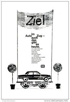 Werbung - Original-Werbung/Anzeige 1963 - 1/1 SEITE - DEUTSCHE BUNDESBAHN / DIE BAHN - ca. 160 x 230 mm