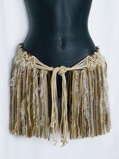 Festival skirt, hip wrap, hip belt, gypsy boho skirt, pixie, hippie boho bohemian, costume, burning man, tattered mini, hippie skirt,