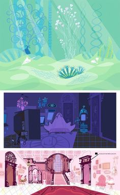 Fosters Home For Imaginary Friends Backgrounds.  Some of the greatest backgrounds in TV Animation: