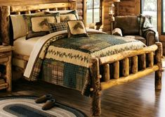 """Create a lodge-inspired feel to your bedroom décor with our Country Plaid Quilt. Patchwork rag quilt design features earth-tone shades for a warm, inviting look. 100% cotton with 100% bleached cotton batting. Imported.  Available:   Full/Queen –  90"""" x 90"""",  King –  110"""" x 96""""."""