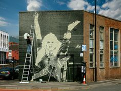 Meanwhile over on MEAN STREET ;) Chris Holmes in W.A.S.P. mural #WaspArt #ChrisHolmes #wasp #MeanMan