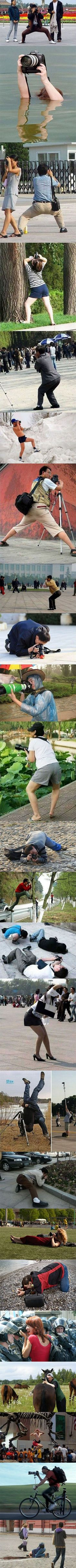 Funny pictures about The Different Poses Of A Photographer. Oh, and cool pics about The Different Poses Of A Photographer. Also, The Different Poses Of A Photographer photos. I Love To Laugh, Make Me Smile, Haha, Foto Fun, Nelly Furtado, Funny Couples, Look At You, Just For Laughs, Belle Photo