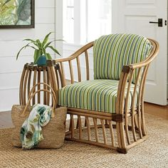Tommy Bahama Home Twin Palms Paradise Cove Barrel Chair Online Furniture, Luxury Furniture, Home Furniture, Furniture Ideas, Outdoor Furniture, Bamboo Sofa, Upholstery Cushions, House Plants Decor, Down Comforter