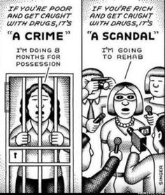 Money and injustice talk in the United States