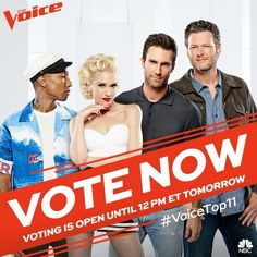 VOTE NOW (link in bio) #VoiceTop11 ✌️
