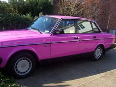 my first car.. Pink volvo... ooo how i miss you!