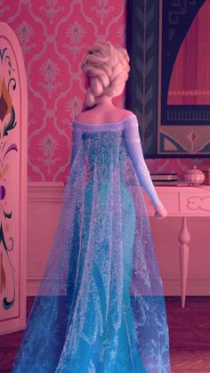 Elsa in her ice dress