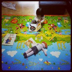 No chão?! Não! Em um tapete antitérmico para preservar a criança! #Daskom #TapeteEcoProby #Respeitoavida