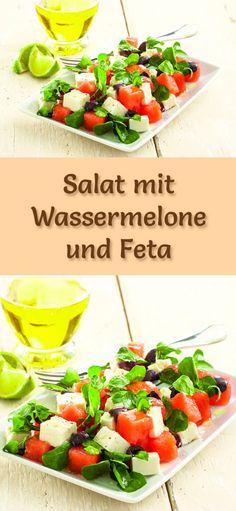 Melonen-Rezepte zum Abnehmen: Salat mit Wassermelone und Feta - kalorienarm, gesund und lecker, das perfekte Diät-Rezept für die schlanke Linie ...