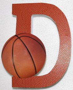 Basketball Theme Wooden Name Letters Photography Prop Portraits Room/Nursery Décor on Etsy, $7.99