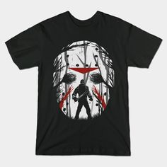 Friday Shadow T-Shirt - Jason Voorhees T-Shirt is $14 today at TeePublic!