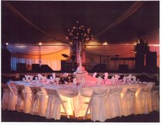 Love these chair covers. Event by All Seasons Event Rental