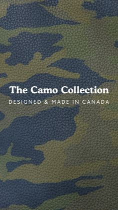 Handcrafted in our Toronto leather factory from high-quality camo leather from a tannery in the north of Italy. Leather Factory, Toronto, Camo, Italy, How To Make, Collection, Design, Camouflage, Italia