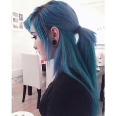 21 Blue Hair ideas that you'll love ❤ liked on Polyvore featuring beauty products, haircare, hair styling tools, hair and curly hair care