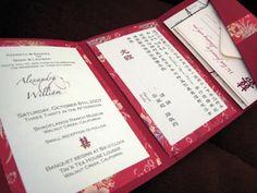 DIY Tutorial: Tri-Fold Pocketfold Invitations (Gotta say, I love how she added Vietnamese to her invitation)