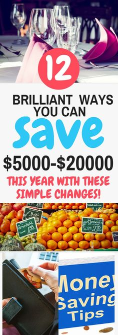 Brilliant ways to save money without feeling deprived by making small changes. These are all easy ways to save $1000s each month on groceries, eating out, budgeting, shopping and so much more. Click through to check out those save money tips!